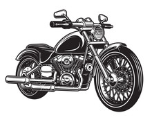 Vector Illustration Of Motorcycle