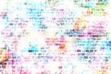 Tło grunge sztuki miejskiej kolorowe ściany - 100365268