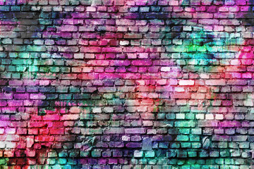 Fototapeta Colorful grunge urban art wall background