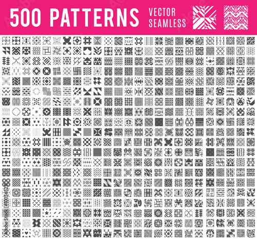 Recess Fitting Pattern Universal different vector seamless patterns
