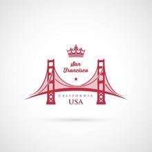 San Francisco Golden Gate Bridge Symbol