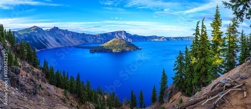 Poster Meer / Vijver Crater Lake National Park in Oregon, USA
