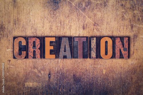 Fotografia, Obraz  Creation Concept Wooden Letterpress Type