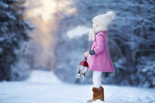 Adorable Little Girl With Flas...