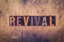 Revival Concept Wooden Letterpress Type