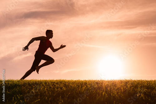 Fotografie, Obraz  Muž běžec