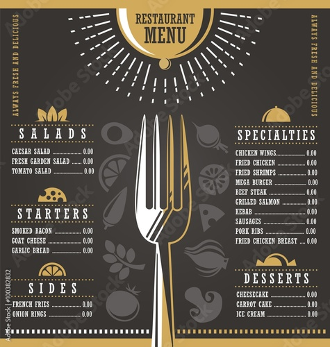 Restaurant menu design buy this stock vector and explore