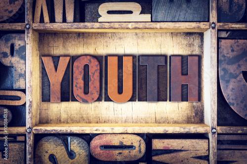 Obraz na plátně  Youth Concept Letterpress Type
