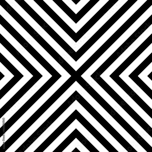 Fotografía Seamless pattern with regular, diagonal lines forming an X shape