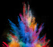 Launched colorful powder.