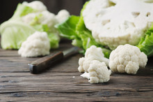 Fresh Raw Cauliflower On The W...