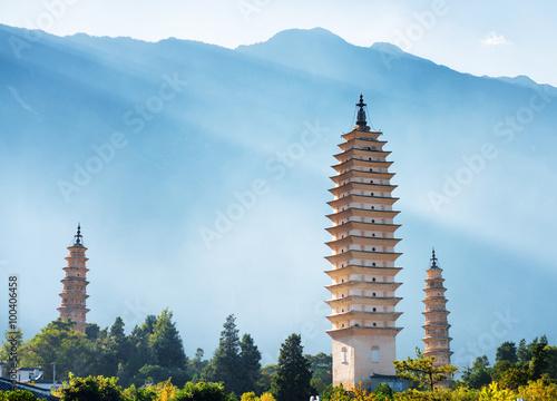 Wallpaper Mural The Three Pagodas of Chongsheng Temple in Dali, China