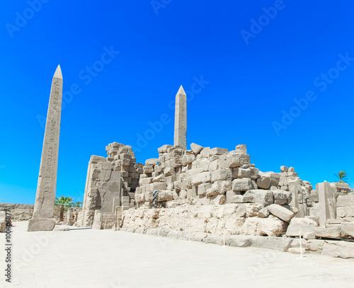 In de dag Egypte Ancient ruins of Karnak temple in Egypt