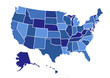 USA map vector illustration art on white background