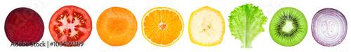Poster Vruchten Slices of fruit and vegetable