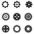 set of vector gears