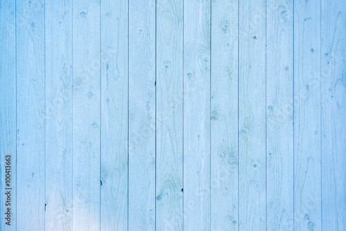 obraz lub plakat Pale blue wood plank surface texture