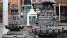 Buddha Statues And The Boy In ...