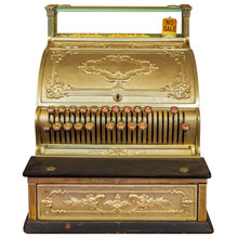 Vintage Cash Register Isolated...