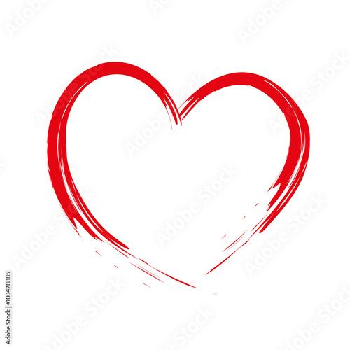 Fotografia  Painted brush heart Cupid