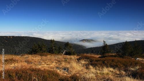 Foto auf Gartenposter Hugel Czech mountains IV., inversion