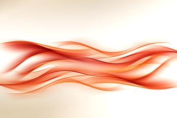 Abstract Orange Wave Design Background