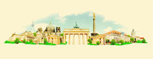 Vector Watercolor BERLIN City ...