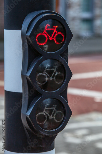 Photo  Traffic light for cyclists.