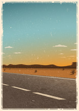 Vintage Road Poster Template