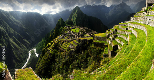 Stickers pour portes Ruine Machu Picchu