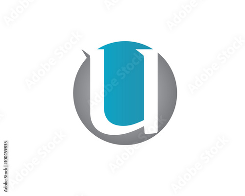 U letter logo Canvas Print