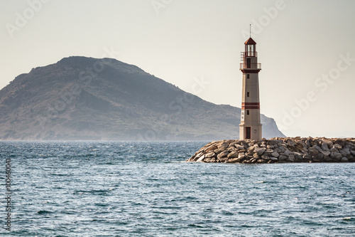 Seascape and the Lighthouse on the Coast - 100460041