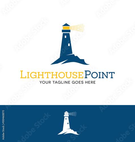Fotografie, Obraz  lighthouse logo for business, organization or website
