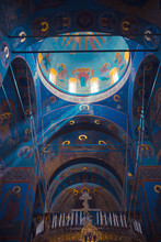 The Magnificent Interior Of Trinity Cathedral In Pochaev Lavra