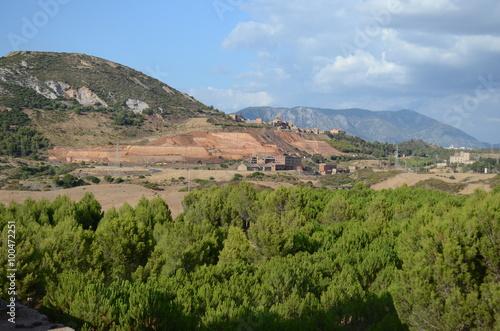Fotografie, Obraz  Fanghi rossi della miniera abbandonata di Monteponi, Iglesias, Sardegna