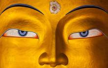 Maitreya Buddha Face Close Up,...