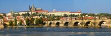 Prague Castle/ Prague - View To Charles Bridge And Prague Castle - Czech Republic