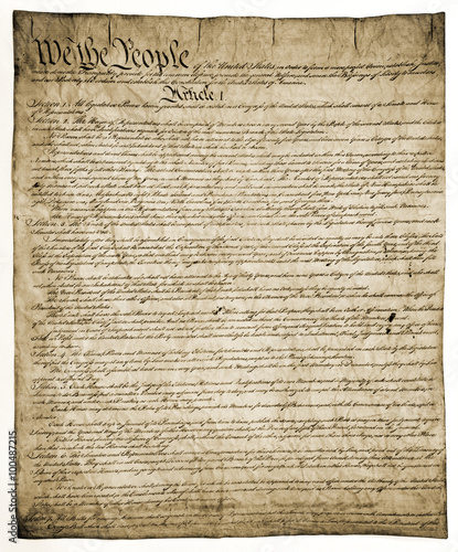 Fotografia Constitution of United States