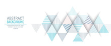 Abstract Blue Triangle Line St...
