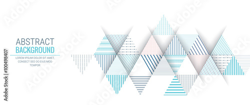 Fototapeta abstract blue triangle line stripe pattern background