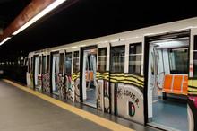 Painted Graffiti  Subway Car, ...