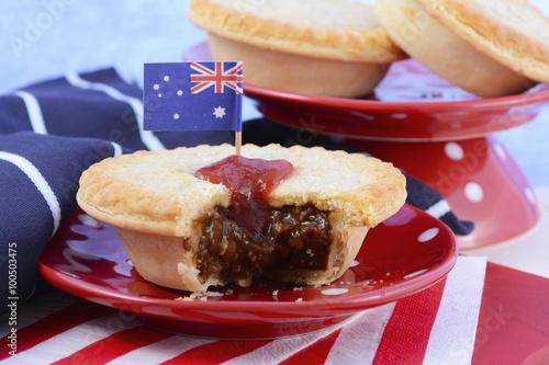 Fotografie, Obraz  Traditional Australian Meat Pies