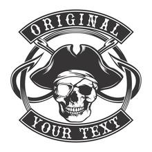 Skull Pirate Hook Emblem
