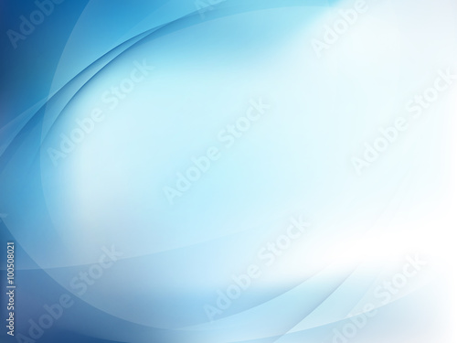 Spoed Foto op Canvas Abstract wave Blue Light Wave Abstract Background. EPS 10