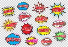 Comic Speech Bubbles Set, Comi...
