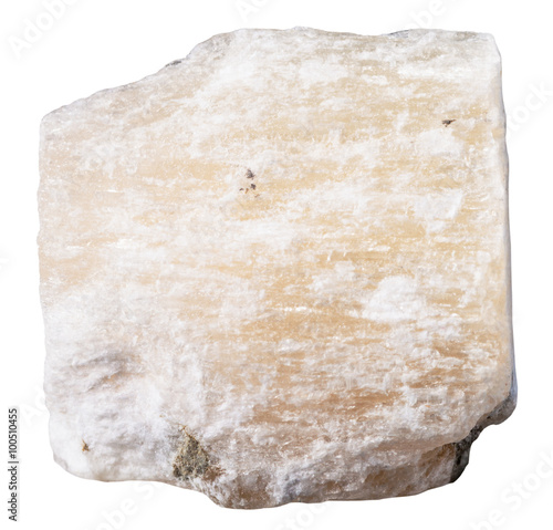 Photo specimen of gypsum (alabaster) mineral stone