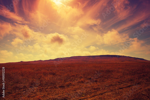Butiful mountain vintage landscape