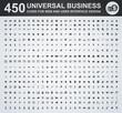 450 Business icon set