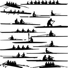 Rowing Collection Silhouettes ...