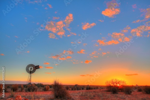plakat Windmill in remote Australian outback